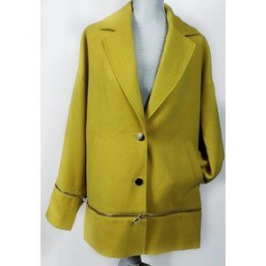 NWT Guess Lime Over-sized Zip-Off Coat L